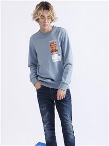 Saslax秋季新款时尚印花卫衣