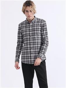 Saslax秋季新款格子衬衫