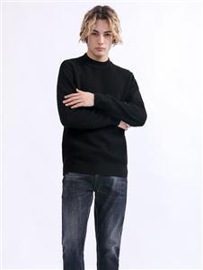 莎斯莱思男装Saslax秋季新款黑色卫衣