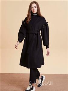 尚来SHANGLAI黑色连衣裙
