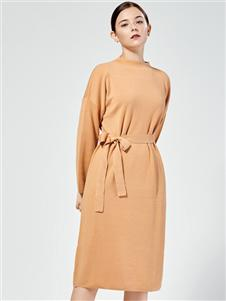 布倫圣絲新款收腰連衣裙