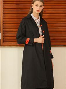 芊伊朵女装秋冬新款黑色外套