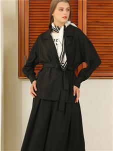 芊伊朵女装秋冬新款黑色套装