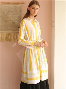芊伊朵新款气质条纹连衣裙