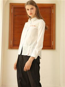 芊伊朵秋冬新款白色衬衫
