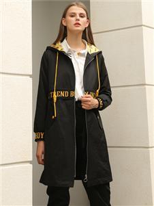 芊伊朵新款时尚黑色外套