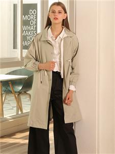 芊伊朵女装秋冬新款长外套