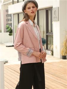 芊伊朵新款柔粉色外套