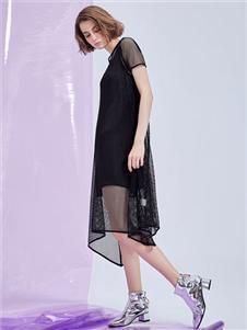 MEIILTHI黑色连连衣裙