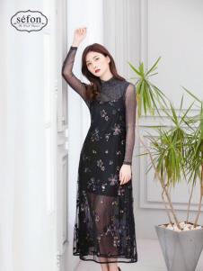 2019臣楓女裝秋冬新款連衣裙
