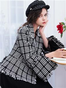 LIYA LISA莉雅莉萨新款格子外套
