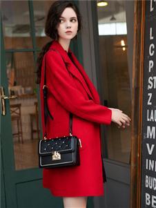 LIYA LISA莉雅莉萨红色大衣
