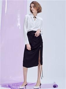 MT优雅女人织带半裙
