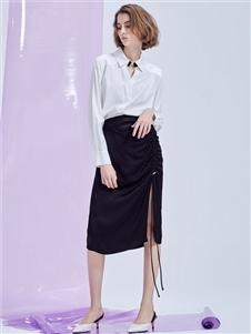 MT優雅女人織帶半裙