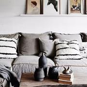 新申亚麻大师 | 你的亚麻沙发已经够美腻?加个实木边柜美上天!
