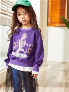 西瓜王子新款时尚紫色卫衣