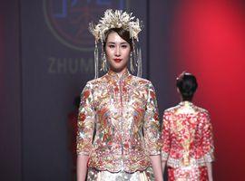 陈乔-岭南文化?非遗广绣嫁衣发布:传统文化元素之美