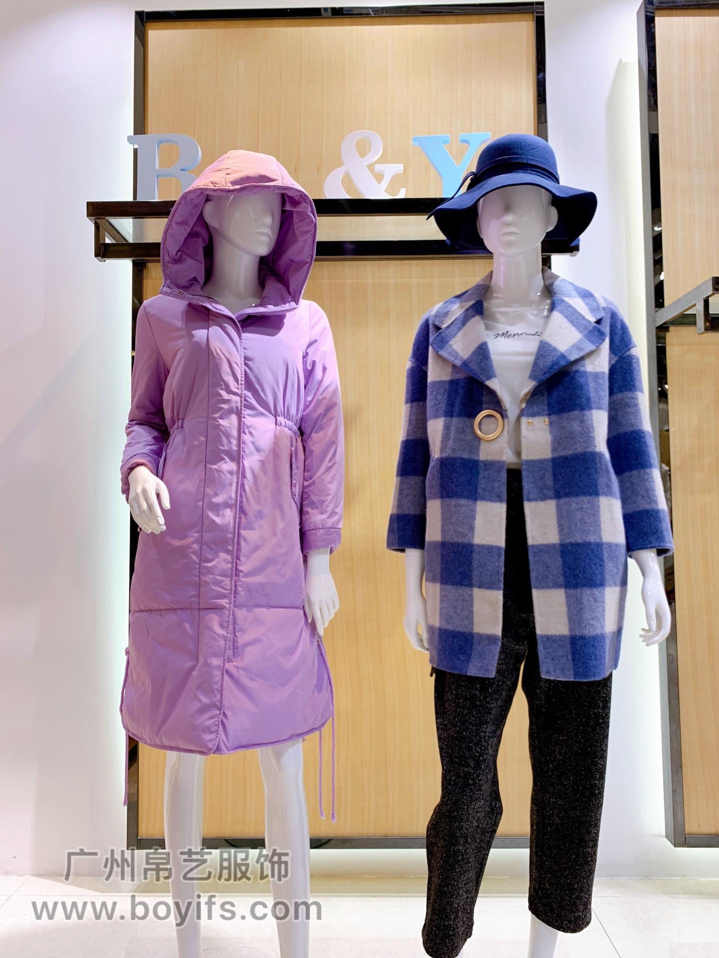 红雨鸶19年冬装,帛艺服饰品牌货源折扣批发
