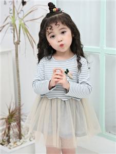 1+2=3童装秋冬新款小童女裙