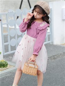 1+2=3童装秋冬新款连衣裙