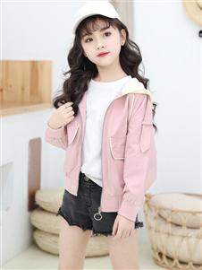 1+2=3秋冬新款粉色外套