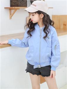 1+2=3童装秋冬新款蓝色外套