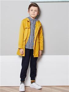 巴柯拉秋装黄色休闲外套