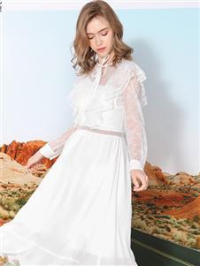 莎斯莱思女装新款纯色连衣裙