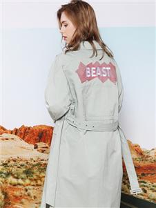莎斯莱思女装莎斯莱思女装新款收腰大衣