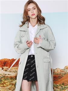 莎斯莱思女装莎斯莱思女装新款时尚风衣