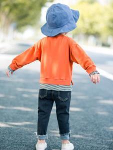 HARMU橙色上衣