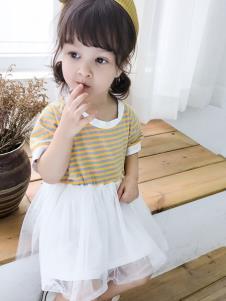 雀氏条纹连衣裙
