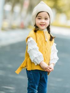 HARMU黄色毛衣