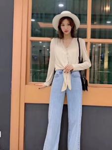 碧成萱女装2019秋冬新款牛仔裤