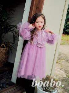 宝儿宝紫色仙女裙