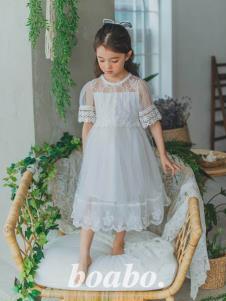 寶兒寶白色公主裙