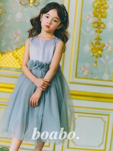 宝儿宝灰色纱裙