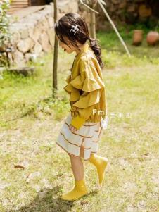 梦想号2019亮黄色新款女童外套
