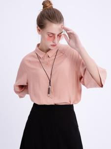 可之馨KEZXIN粉色上衣新款