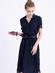 可之馨KEZXIN黑色连衣裙显瘦