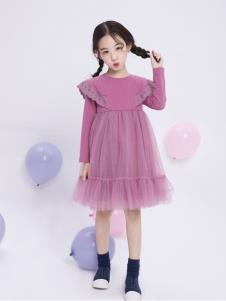 宝儿汪紫色连衣裙