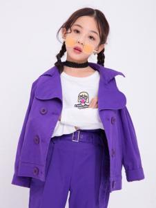 宝儿汪紫色套装
