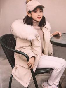 创印象童装冬季白色棉外套