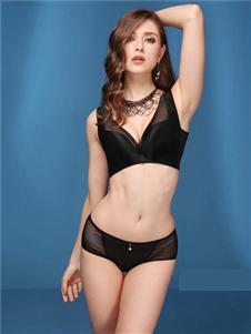 歐林雅新款黑色文胸套裝