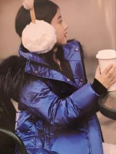 创印象童装冬季蓝色棉衣
