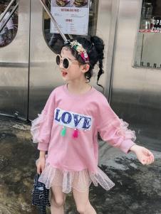 玖喆潮童粉色纱裙