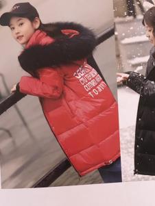 创印象童装创印象童装冬季红色棉衣