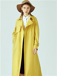 丽迪莎女装新款黄色大衣