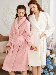 素芮秋冬家居服新款浴袍
