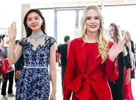 2019世界旅游小姐走进即墨国际商贸城